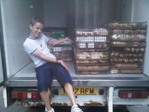 Ryan Collecting From Cooplands Bakery in Doncaster - 06-07-10