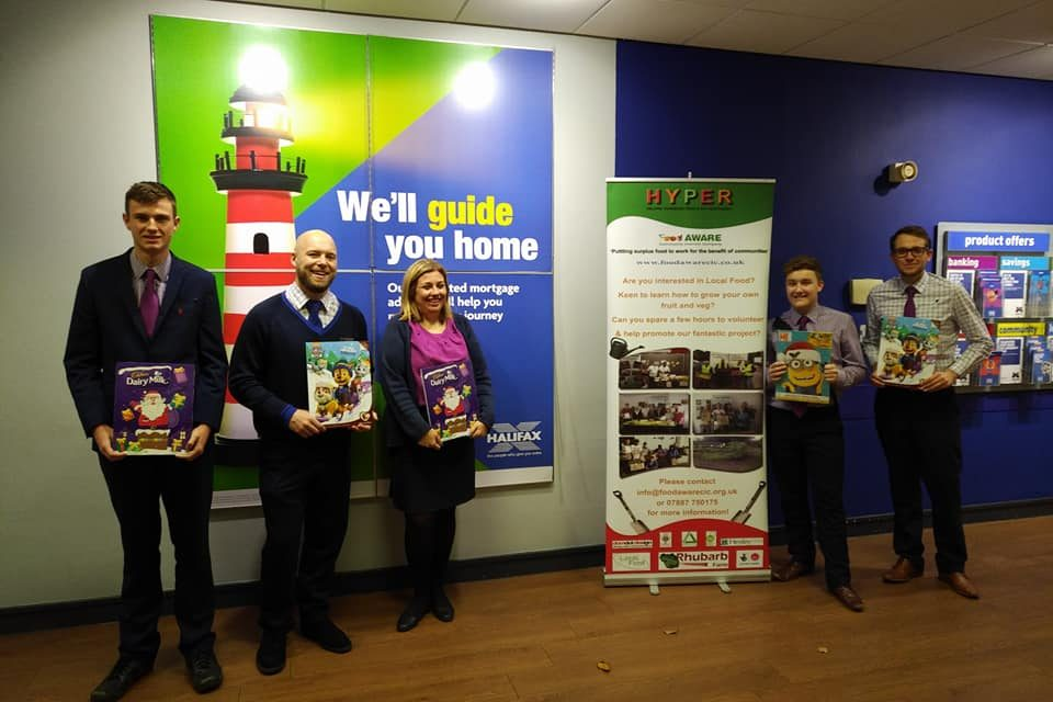 Thanks Once Again to Halifax Bank for Advent Calendar Donations