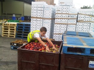 Ryan Sorting Fruit from Asda in Leeds - 07-07-10