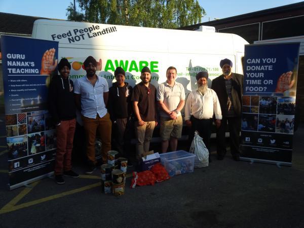 Food AWARE supports Guru Nanak's Free Kitchen!