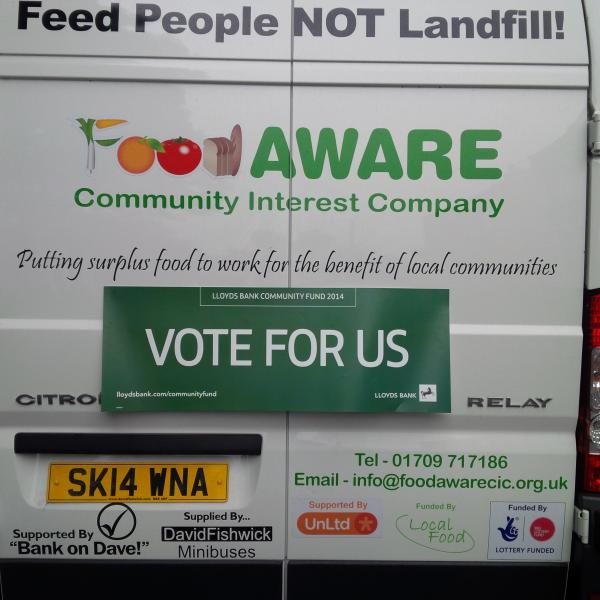 Vote for Food AWARE to win a Lloyds Bank Community Fund Award!