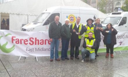 Food AWARE helps 'Feed 5,000' in Nottingham city centre!