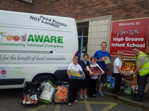 weekly deliveries to High Greave School