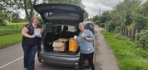 Huge thanks to local lady Vikki Yearwood who has made a donation of tins and dried goods for Food Aware CIC