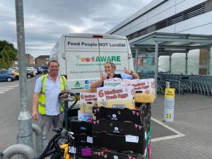 Big thanks to Amy Johnson and Lidl for the continuing support to FoodAWARE and the local community