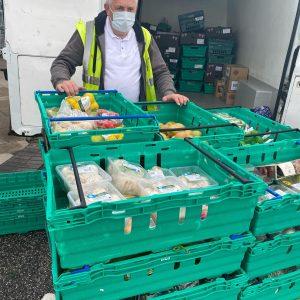 FoodAWARE collecting surplus food at Morrisons Bramley Rotherham