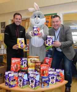 Kristian Walton supporting FoodAWARE CIC with Easter Egg donation.