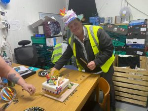 FoodAWARE CIC celebrating the birthday of a colleague and friend Mark Dockerty