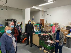DN7 Foodbank visiting FoodAWARE CIC at Hellaby