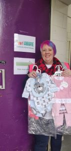Kathryn Barker supporting FoodAWARE CIC by donating a huge amount of brand new baby clothes