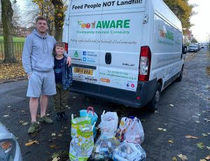 Lee and Finlay supporting FoodAWARE CIC and the local community