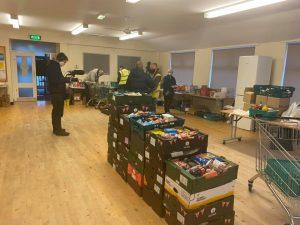 The Guardian filming at Mexborough Foodbank FoodAWARE CIC