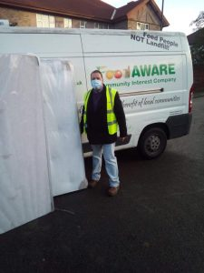 FoodAWARE supporting local community with delivery of beds
