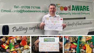 Hallam FM Cash for kids supporting FoodAWARE CIC