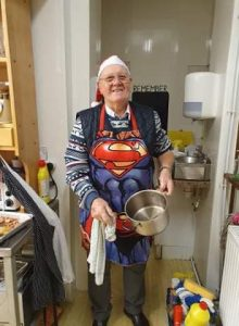Superman Chas supporting FoodAWARE CIC