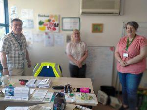 Banana Box Toy Project visiting FoodAWARE CIC Hellaby